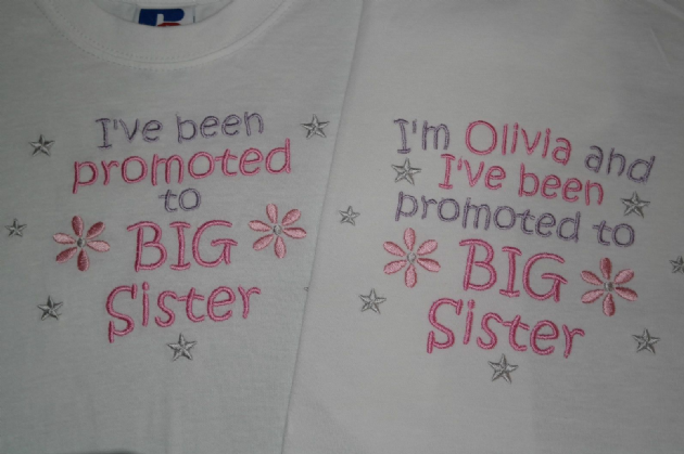 Sister T-shirt can be personalised I/'ve been promoted to Big Brother