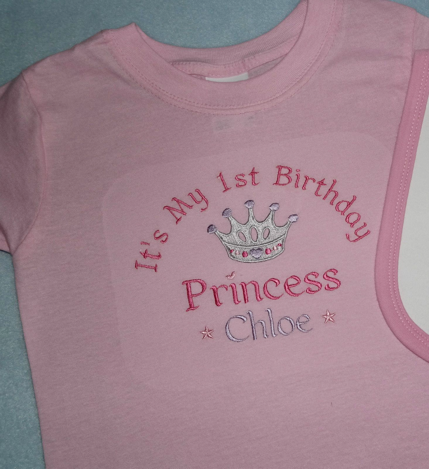26695643c05da Personalised 1st First Birthday t-shirt Prince Princess Twince Twincess
