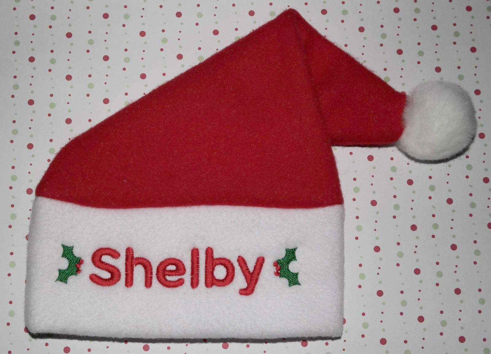 376642592fb Personalised Baby Toddler Fleece Santa Hat ADD ANY NAME Great Christmas Gift